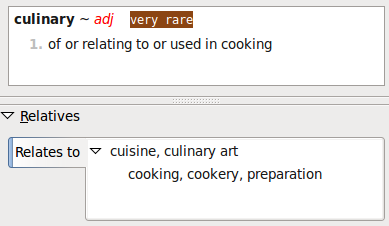 Pertainyms of culinary
